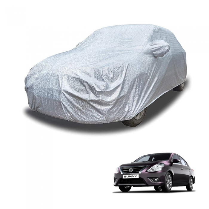 Carhatke Spyro Silver 100% Waterproof Car Body Cover with Mirror Pocket for Nissan Sunny