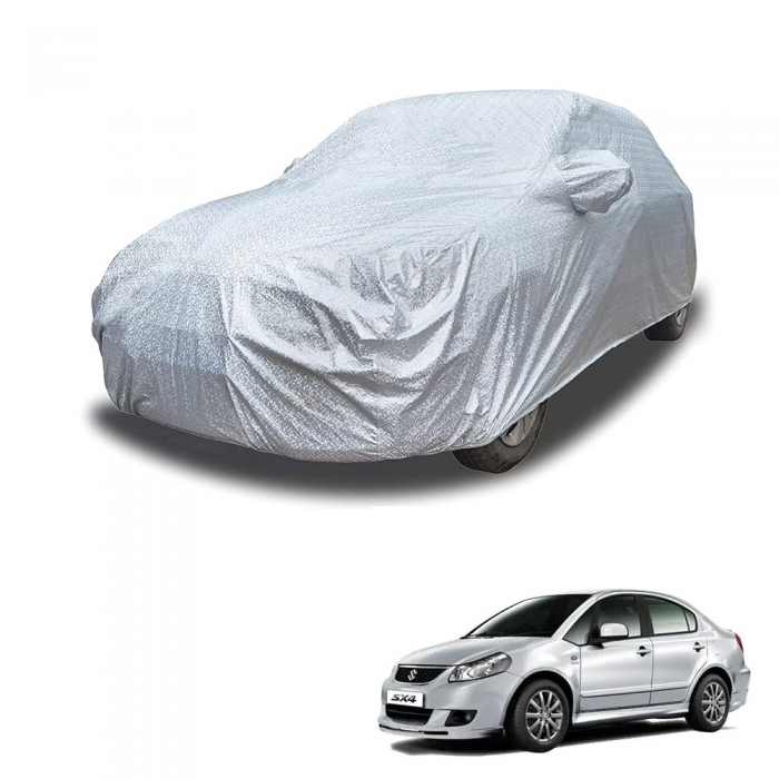 Carhatke Spyro Silver 100% Waterproof Car Body Cover with Mirror Pocket for Maruti Suzuki SX4