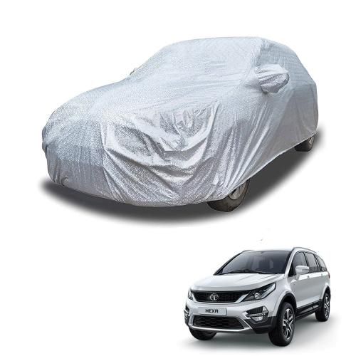 Carhatke Spyro Silver 100% Waterproof Car Body Cover with Mirror Pocket for Tata Hexa