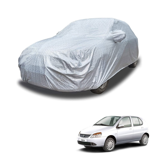 Carhatke Spyro Silver 100% Waterproof Car Body Cover with Mirror Pocket for Tata Indica