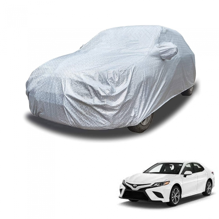 Carhatke Spyro Silver 100% Waterproof Car Body Cover with Mirror Pocket for Toyota Camry