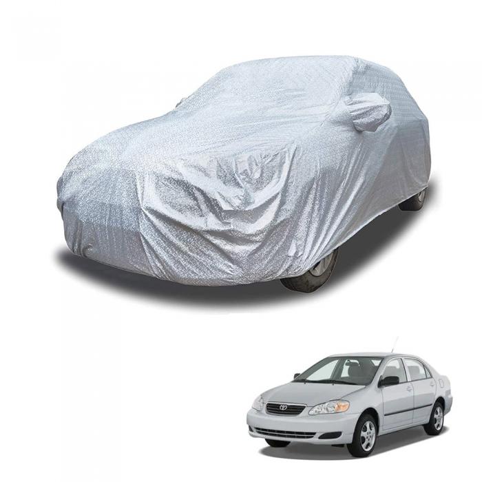 Carhatke Spyro Silver 100% Waterproof Car Body Cover with Mirror Pocket for Toyota Corolla