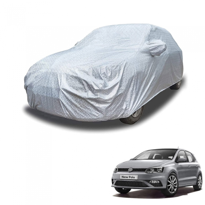 Carhatke Spyro Silver 100% Waterproof Car Body Cover with Mirror Pocket for Volkswagen Polo