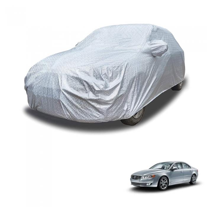 Carhatke Spyro Silver 100% Waterproof Car Body Cover with Mirror Pocket for Volvo S80