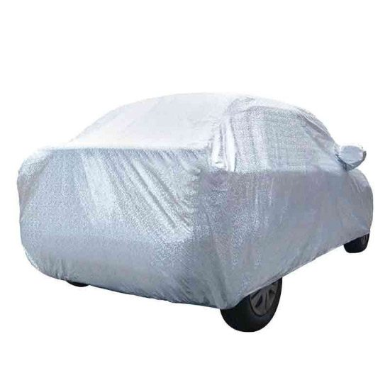 Carhatke Spyro Silver 100% Waterproof Car Body Cover with Mirror Pocket for Tata Aria