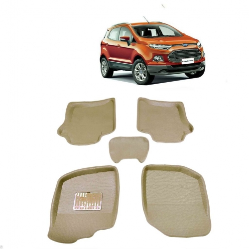 Leathride Texured 3D Car Floor Mats For Ford Ecosport