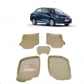 Leathride Texured 3D Car Floor Mats For Honda Amaze