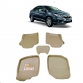 Leathride Texured 3D Car Floor Mats For Honda City 2014
