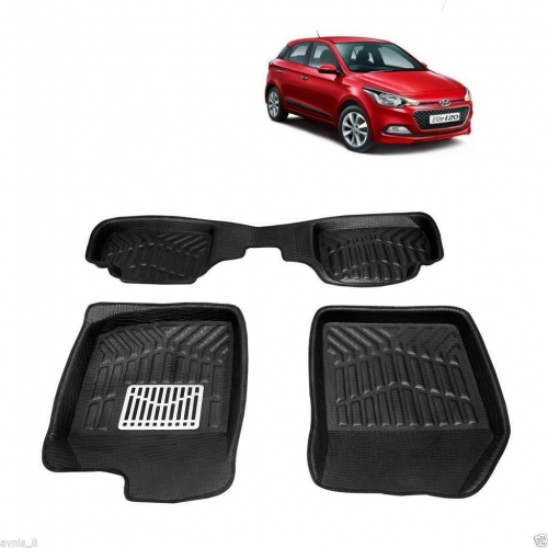 Leathride Texured 3D Car Floor Mats For Hyundai I20 Elite