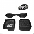 Leathride Texured 3D Car Floor Mats For Maruti Suzuki Swift Dzire Old