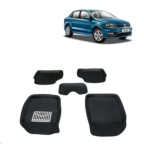 Leathride Texured 3D Car Floor Mats For Volkswagen Ameo