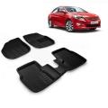 Premuim Quality 3D Car Floor For Hyundai Verna Fluidic (Beige and Black)
