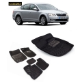 Coozo 3D Car Floor Mats For Skoda Octavia Set Of 5
