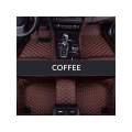 Honda New Jazz 2015 Premium Diamond Pattern 7D Car Floor Mats (Set of 3, Coffee)
