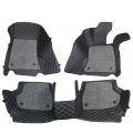 Volkswagen Jetta Premium Diamond Pattern 7D Car Floor Mats (Set of 3, Black)