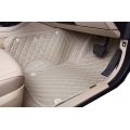 Maruti New Ertiga Old Premium Diamond Pattern 7D Car Floor Mats (Set of 3, Beige)