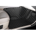Audi Q7 Premium Diamond Pattern 7D Car Floor Mats (Set of 3, Black & Beige)