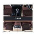 Audi A4 Premium Diamond Pattern 7D Car Floor Mats (Set of 3, Coffee Color)
