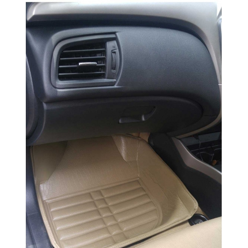 Honda City Ivtech 2009 Premium 5D Car Floor Mats (Set of 3, Beige)