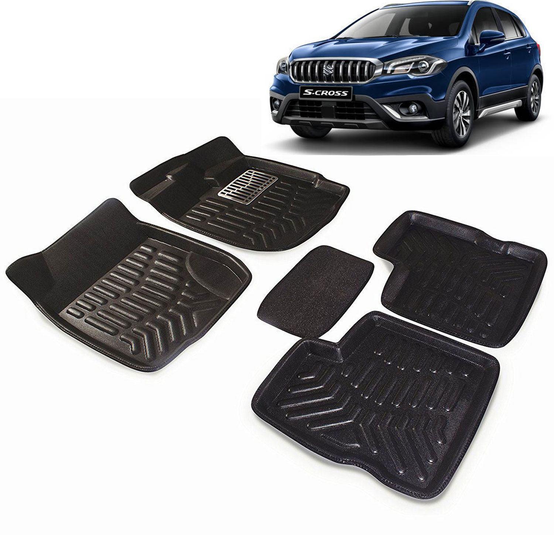 8fbf8d19fa1 Carhatke Premium Quality Car Floor 3D Mats For Maruti Suzuki S-Cross-Black