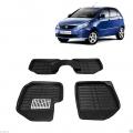Leathride Texured 3D Car Floor Mats For Tata Indica