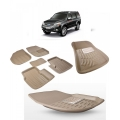 Premuim Quality Car 3D Floor Mats For Ford Endeavour (Beige)