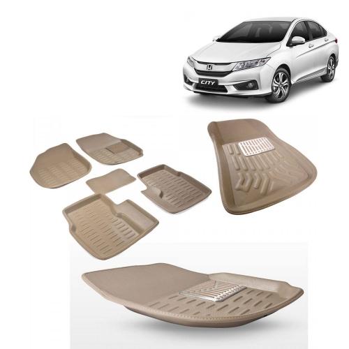 Premuim Quality 3D Car Floor For Honda City Beige