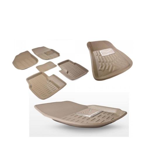 Premuim Quality Car 3D Floor Mats For Honda Civic (Beige)