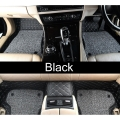 Ford Ecosport Premium Diamond Pattern 7D Car Floor Mats (Set of 3, Black & Beige)