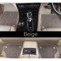 Mercedes GLE 2017 Premium Diamond Pattern 7D Car Floor Mats (Set of 3, Black and Beige)
