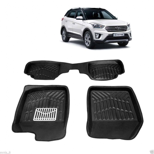 Leathride Texured 3D Car Floor Mats For Hyundai Creta