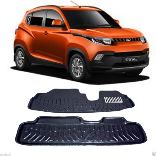 Leathride Texured 3D Car Floor Mats For Mahindra KUV 100 (6 Seater Only)