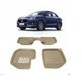 Leathride Texured 3D Car Floor Mats For Maruti Suzuki New Dzire 2017