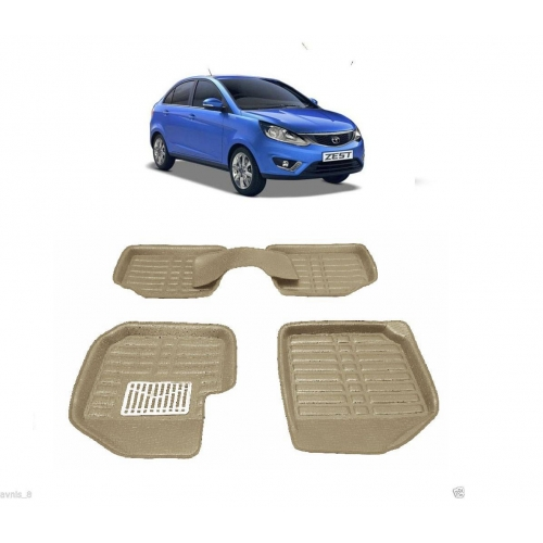 Leathride Texured 3D Car Floor Mats For Tata Zest