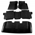 Mahindra XUV500 Premium 5D Car Floor Mats (Set of 4, Black & Beige)