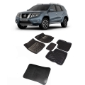 Premuim Quality Car 3D Floor Mats For Nissan Terrano With Dicky (Black & Beige)
