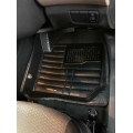 Toyota Glanza Premium 5D Car Floor Mats (Set of 3, Black & Beige)