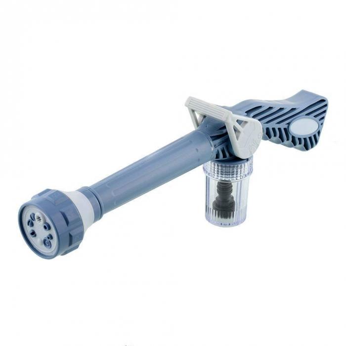 Ez Jet Water Cannon 8 in 1 Turbo Water Spray Gun for Car with inbuilt Soap Dispenser Tank for Car Bike Washing Gardening Washing/Gardening with inbuilt Soap Dispenser