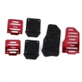 Red Color Non-Slip Racing Manual Car Pedals Pad Cover (Set of 3Pcs)