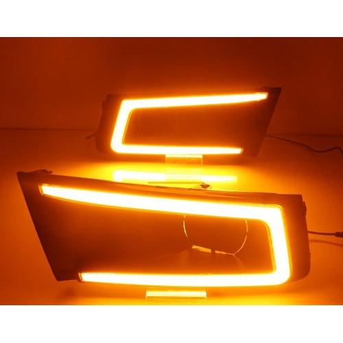 Maruti Vitara Brezza LED Front DRL Day Time Running Lights (Set of 2Pcs.)
