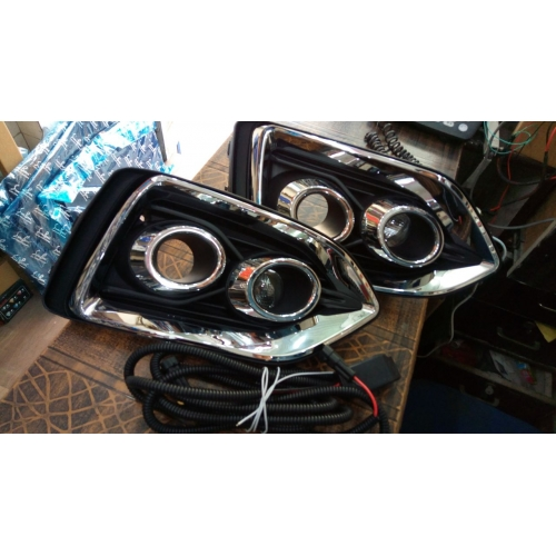 Hyundai Verna 2017 Front Twin Projector DRL Daytime Running Lights (Set of 2Pcs.)