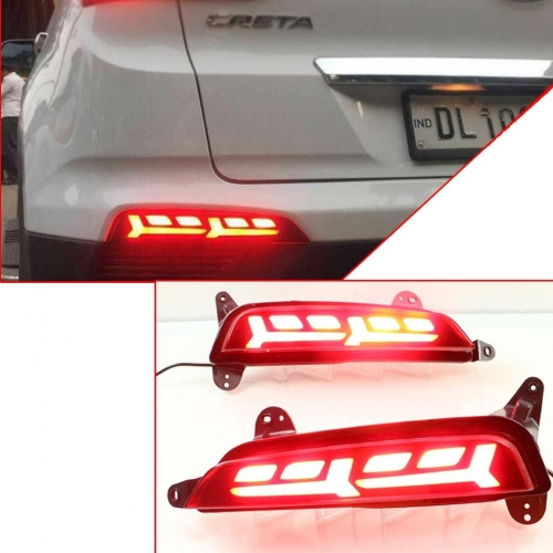 Hyundai Creta Old LED Bumper Reflector Lights in Lamborghini Style (Set of 2Pcs.)