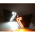Hyundai Creta LED Front DRL Day Time Running Lights with Turn Signal - Double Tube Type DRL (Set of 2Pcs.)