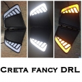 Hyundai Creta Front LED DRL Daytime Running Lights with Turn Signal Indicator in New Style (Set of 2Pcs.)