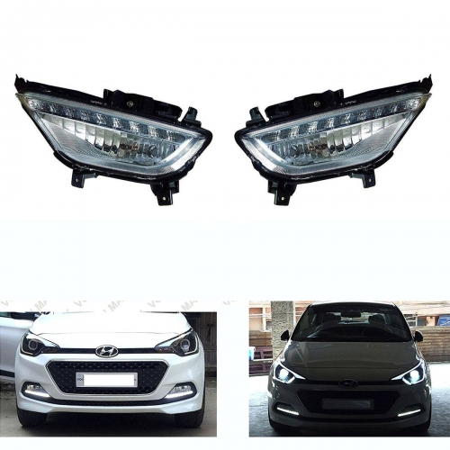 Hyundai i20 Old Front LED DRL Daytime Running Light with Fog Lamp (Set of 2Pcs.)