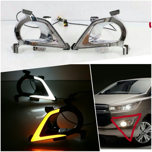 Toyota New Innova Crysta LED Front DRL Day Time Running Lights (Set of 2Pcs.)