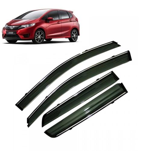 Car Window Door Visor With Chrome Line For Honda New Jazz 2015