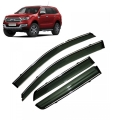 Car Window Door Visor With Chrome Line For Ford New Endeavour