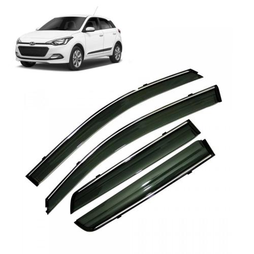 Car Window Door Visor With Chrome Line For Hyundai I20 Elite