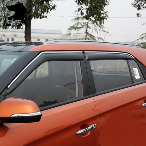 Car Window Door Visor With Chrome Lining For Hyundai New Creta 2018